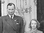 Prinsessan Elisabeth med sin far prins Knud, 1940-tal