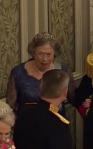 Prinsessan Elisabeth vid drottning Margrethes 75-års-firande i april 2015.