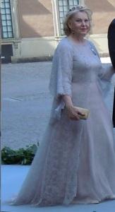 Marianne Bernadotte vid prinsessan Madeleines bröllop 2013.