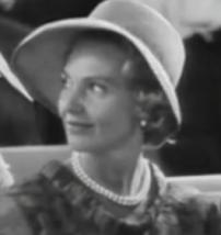 Marianne Bernadotte vid prinsessan Margarethas bröllop 1964. Foto SVT